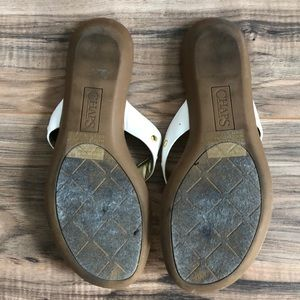 Chaps Shoes - Chaps White & Gold Thong Sandals